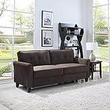 Divano Roma Furniture Classic Sofas, Brown