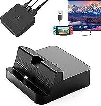 GuliKit Dockningsstation, Mini TV-docka kompatibel med strömbrytare, med PD-laddning, HDMI-adapter, USB 3.0-port, stöder S...