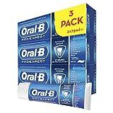 Oral-B Pro-Expert Dentifrice Nettoyage Intense, 24 H de Protection, Protège Contre la Plaque Dentaire, Lot de 3x75 ml, 81685626