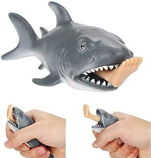 子供プラスチッククリエイティブアンチストレススクイーズおもちゃ空腹サメサーファーレッグおもちゃストレスリリーフ面白いスプーフトリックギフトなし