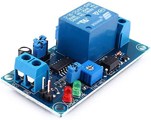 ICQUANZX Módulo de relé de retardo de Tiempo DC 12V para Smart Home, tacógrafo, GPS, Control PLC, Control Industrial, Experimento electrónico, Robot Arduino