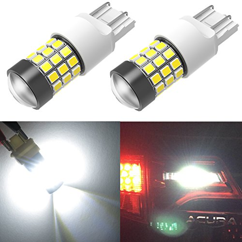 Alla Lighting Super Bright T20 7440 7443 LED Turn Signal Light, Brake Stop Light, Taillights, Back-up Reverse Lights Bulbs WY21W 7444 7442 W21W, 6000K Xenon White