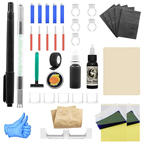 Wormhole Tattoo Stick and Poke Tattoo Kit Tattoo Needles Microblading Pen for Tattoo Supplies and Eyebrow(TK095)