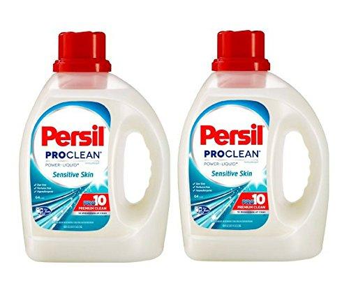 Persil ProClean Power-Liquid Laundry Detergent, Sensitive Skin, 100 Fluid Ounces, 64 Loads (Pack of 2)