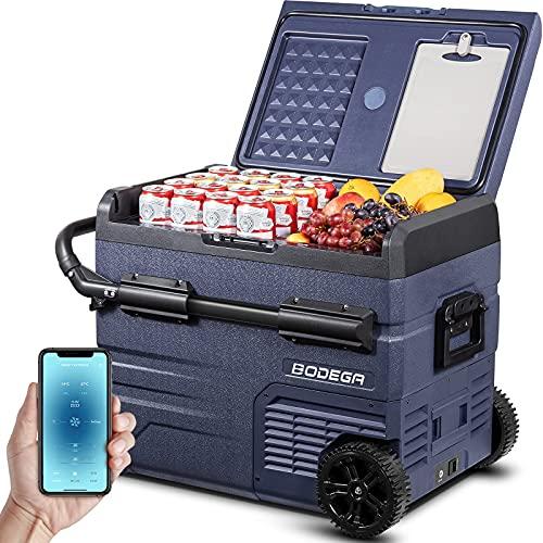 BODEGA 12 Volt Refrigerator, Portable Freezer, Car Fridge Dual Zone APP Control, 48 Quart (45L) -4℉-68℉ RV Electric Compressor Cooler 12/24V DC and 100-240V AC for Outdoor, Camping, Travel and RV