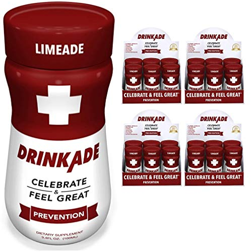 DrinkAde (24-Pack) Prevention with Vitamins & Electrolytes for Hydration Includes Vitamin B, Milk Thistle, Only 5 Calories, No Sugar, Caffeine-Free, Vegan, Non-GMO