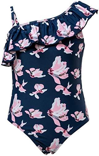 Snapper Rock meisjes UV-bescherming badpak navyorchid
