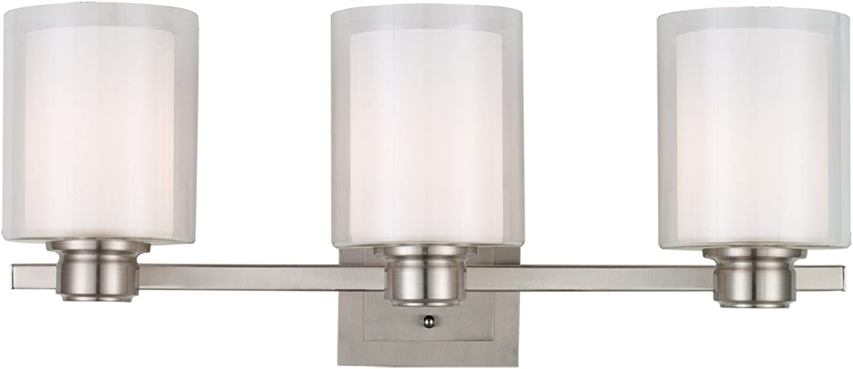 Design House 556159 Oslo 3 Light Vanity Light, Satin Nickel