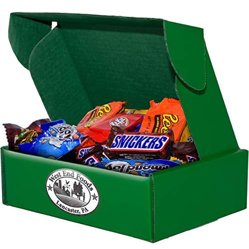 3 lbs Assorted Milk Chocolate Candy, 8x8x3 Green Box
