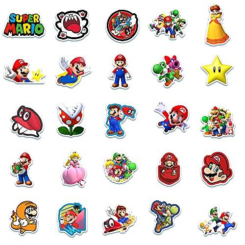 Adesivi anime 200 pz/lotto Gioco Classico Super Mario Cartoon Adesivi Bagagli Laptop Bicicletta Moto Notebook Giocattoli Impermeabili Adesivi