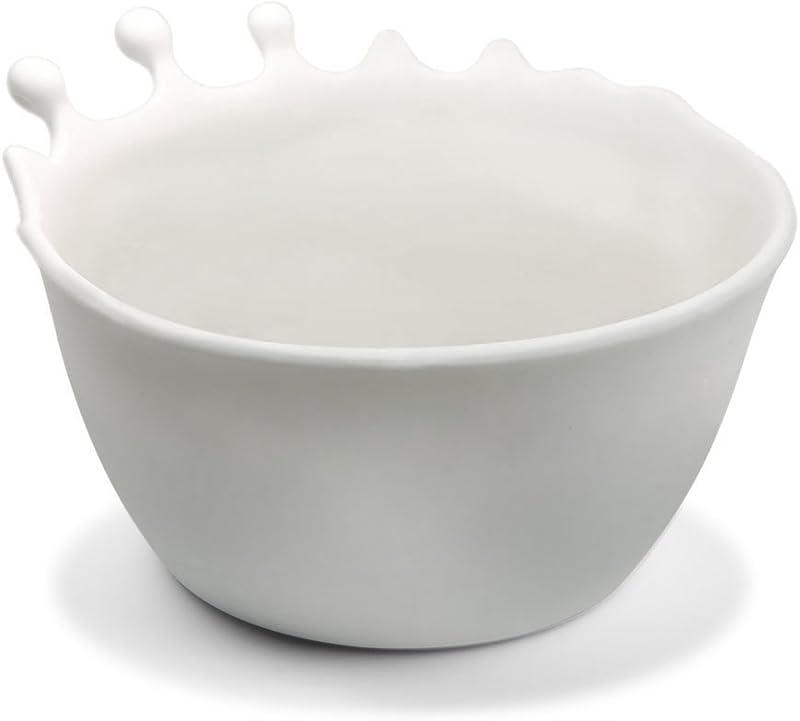 Fred SPILT MILK Splash Cereal Bowl White