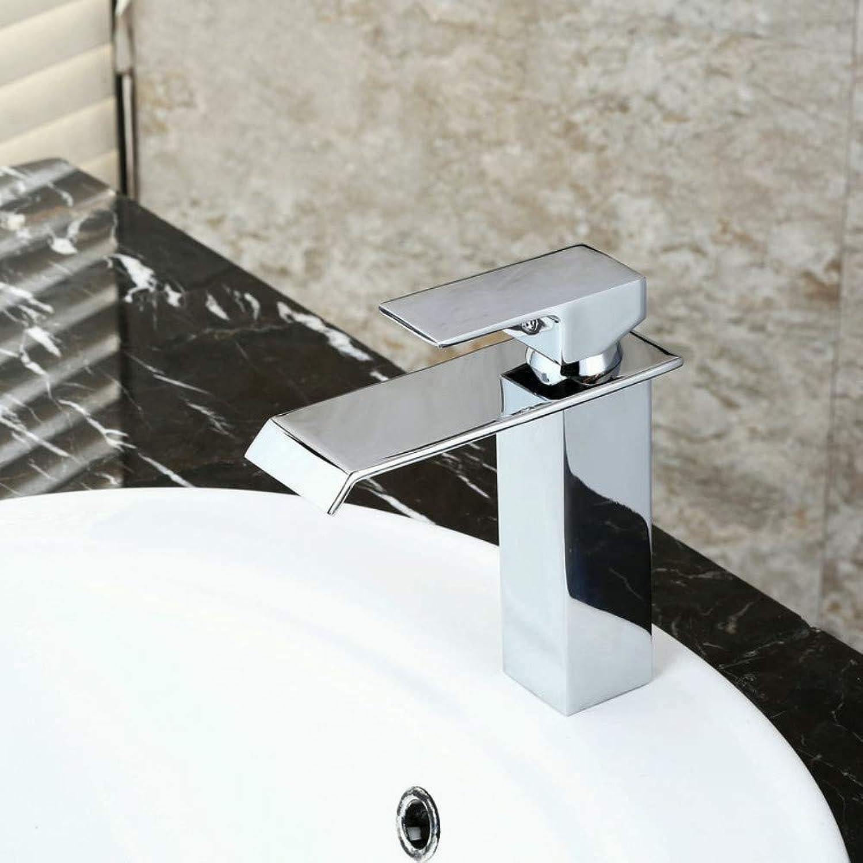 Floungey BadinsGrößetionen Waschtischarmaturen Küchenarmaturen Becken Heier Und Kalter Wasserhahn Breiten Mund Wasserfall Wasserhahn Einzigen Griff Becken Wasserhahn
