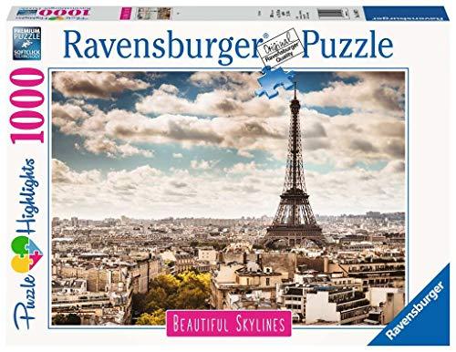 Ravensburger Puzzle 14087 - Paris - 1000 Teile Puzzle für Erwachsene und Kinder ab 14 Jahren, Puzzle-Motiv mit dem Eiffelturm