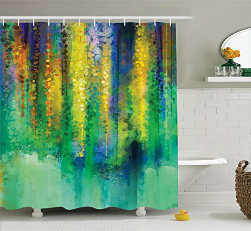 Ambesonne Manly Decor Shower Curtain Set