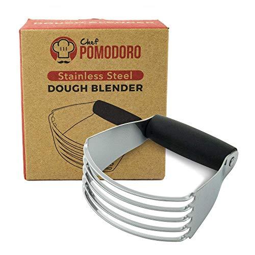 Lame de Boulanger Multi-Usage Inoxydable (15 cm) de Chef Pomodoro, Coupe-Pâte Pizza, Coupeur de Pâte de Boulanger