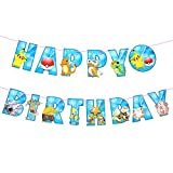 Pokemon Happy Birthday Banner Pikachu Banners Halloween Christmas Party Gifts Supplies Decorations