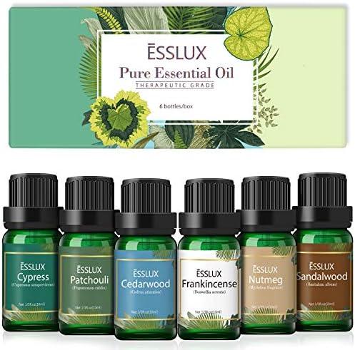 Essential Oils Set Esslux Men Scents Collection with Cypress Cedarwood Patchouli Sandalwood product image