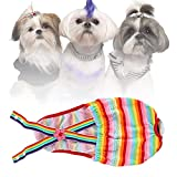Pssopp Algodón Mascota Ropa Interior para Perros Pañales para Perros Mascotas Cachorro Gato Bragas sanitarias Pantalones menstruales para Mascotas con Correa Ajustable (XL)