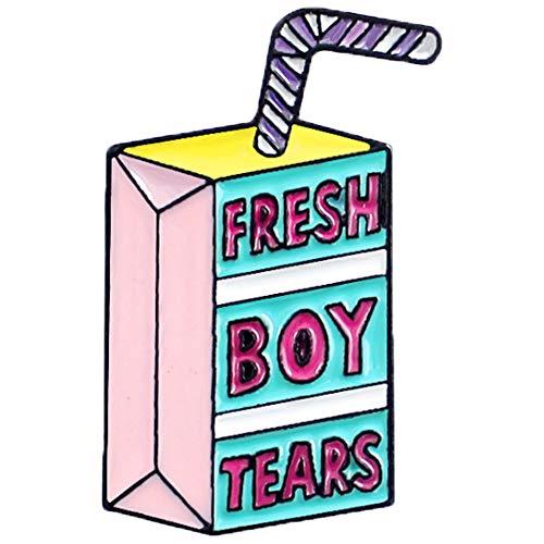 Flairs New York Premium Handmade Enamel Lapel Pin Brooch Badge (Fresh Boy Tears, 1 Pin)