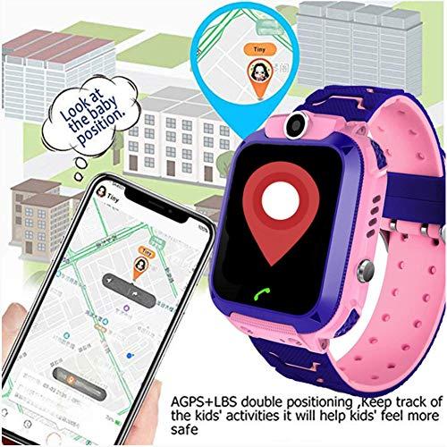 DYALYD wasserdichte Student Kinder Smartwatch Telefon,Touchscreen Kinder Spiel Smartwatch,Anruf Voice Chat SOS Taschenlampe Digitalkamera Wecker,für Jungen und Mädchen