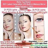 Recensione WEILY Specchio per Il Trucco con Luce 1x / 2X / 3X Trifold ingrandente con 36 LED Touch Screen Luci e Ricarica USB, Supporto Regolabile a 180 Gradi per Specchio cosmetico per Il Trucco - Oro Rosa