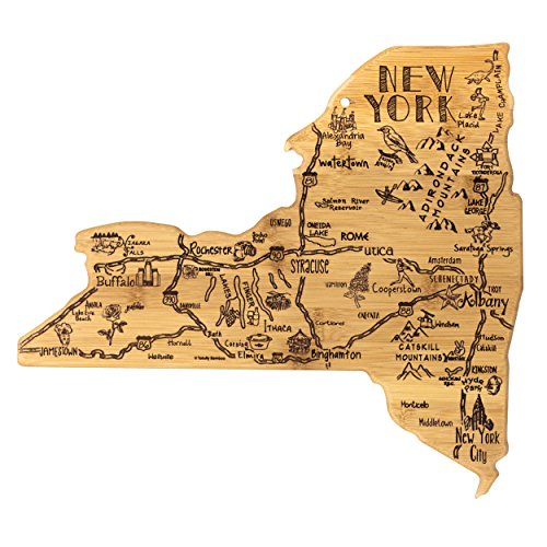 Totally Bamboo New York State Destination Bamboo Serving and Cutting Board