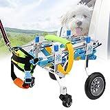 Yencoly Adjustable Pet Wheelchair,Four Wheels Adjustable Dog Wheelchair Fore-Leg Rehabilitation Cart Paralyzed Pet Walk Assistant Homend Adjustable Dog Wheelchair