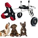 SONGTINGtarpaulin Silla de Ruedas para Perros, Silla de Ruedas Ajustable para Mascotas, Carrito para Perros, Kit de Carrito de Asistente de Paseo para Gato discapacitado
