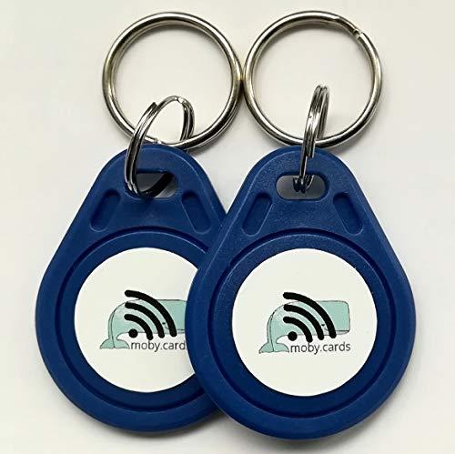 2 portachiavi NFC per creare informazioni digitali per bagagli, portachiavi, borse e altro ancora.