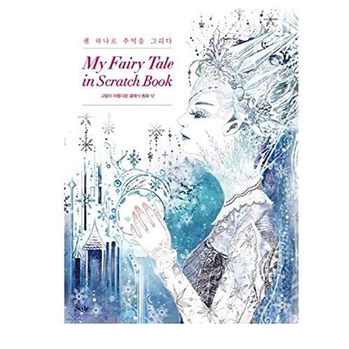 Wisdom garden Stylejosun My Fairy Tale in Scratch Book Classic Fairy Tale 12 con hermosas imágenes de arte curativo para adultos