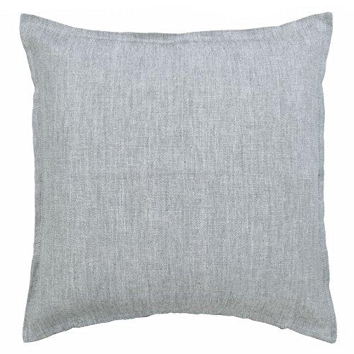 Scantex Kissenhülle LIN grau meliert aus Leinenstoff 50x50cm Kissen