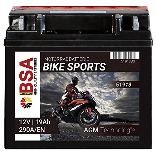 Motorrad Batterie AGM 51913 19Ah 12V 290A/EN Erstausrüsterqualität trocken vorgeladen inkl. Säurepack total wartungsfreie Starterbatterie