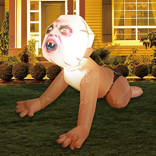 GOOSH 4FT Halloween Inflatable Zombie Baby Blow Up Yard Decor Outdoor Indoor Party Garden Lawn Yard Decorations