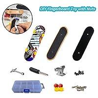 指板レールセットDIYミニ指板セットツール付きデスクトップスケートボード初期教育玩具、3歳以上の子供のための指のスポーツの誕生日プレゼントパーティーの好意