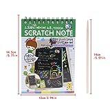 NKYSM Gratter Gratter Livre Art Magique Peinture Papier Dessin Bâton Enfant Éducation Jouet École Bureau Papeterie Fournitures Cadeau