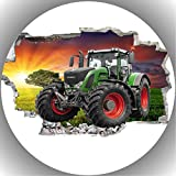 Fondant Tortenaufleger Tortenbild Geburtstag Trecker-Traktor AMA 5