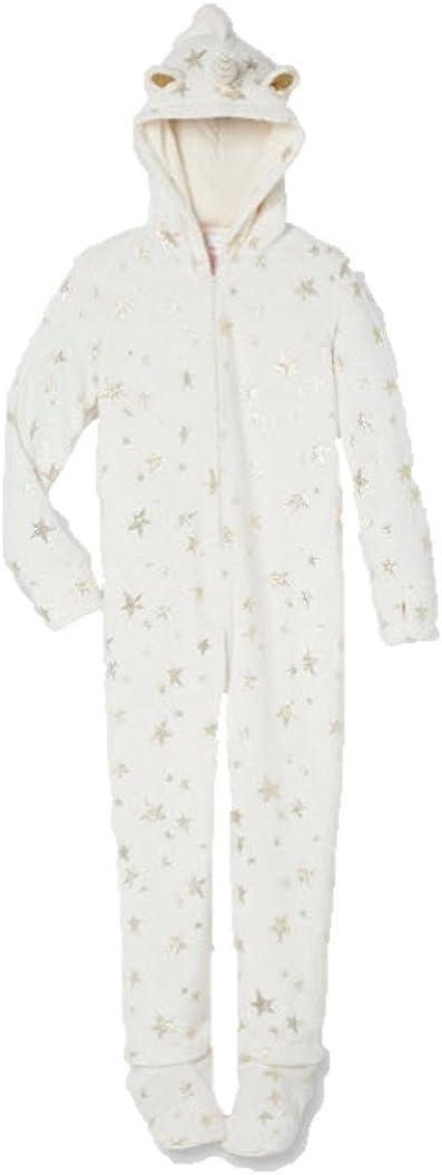 Justice for Girls One Piece Unicorn Hooded Pajama - Fleece PJ Set