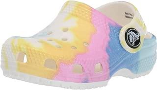 Crocs Baby-Girls Unisex-Child Classic Tie Dye Graphic Clog White Size:
