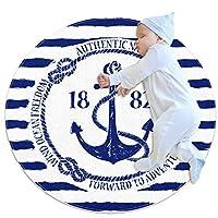 エリアラグ軽量 ボート遊びの航海障害 フロアマットソフトカーペット直径27.6インチホームリビングダイニングルームベッドルーム