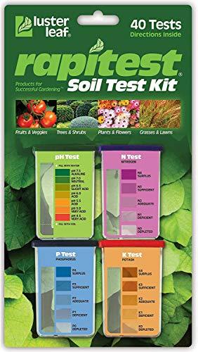 Luster Leaf 1601 Rapitest Test Kit for Soil pH, Nitrogen, Phosphorous and Potash, (1 Pack)