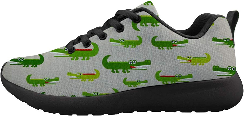 Owaheson Cushioning Sneaker Trail Running shoes Mens Womens American Alligator Crocodile