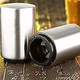 iBoosila Robust und Hochwertig Personalisierter Aluminium Bierflaschenöffner Edelstahl-Optik Massive Ausführung -