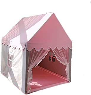 Camping&Hiking Frame Tents Children's Tent Indoor Toy House Girl Bed Princess Castle Small House Pink Detachable Assembly Tent Dome Tents