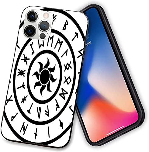 Compatible con iPhone 12 serie caso, un anillo con las antiguas runas nórdicas con un símbolo de sol, delgado y suave TPU para iPhone 12 mini 5.4 pulgadas