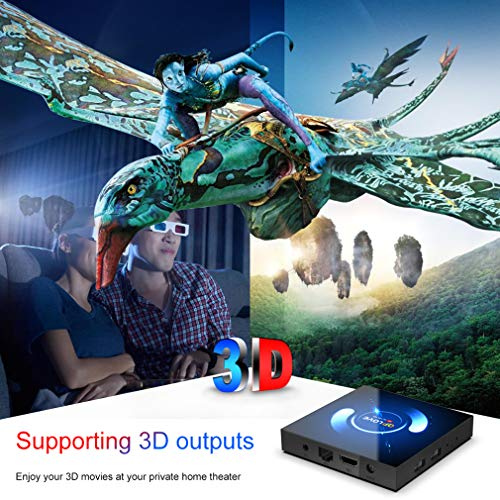 QPLOVE Android 10.0 TV Box?4G+64G??avec Mini Clavier Touchpad H616 6K 3D H.265 Android TV Box Bluetooth 5.0, 64bit Cortex-A53/ Wi-FI 2.4G/5G+ LAN 100M /6K UHD/Boitier Android TV