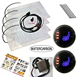 WATERCARBON 3 Files 3 LED red Light Switch Built-in Car Heated Seat Heater Pad...