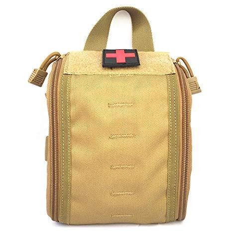 Kit de primeros auxilios a prueba de agua Bolsa de primeros auxilios ligera Bolsa de embalaje de medicamentos portátil Kit de supervivencia de emergencia para el hogar, lugar de trabajo, automóvil,