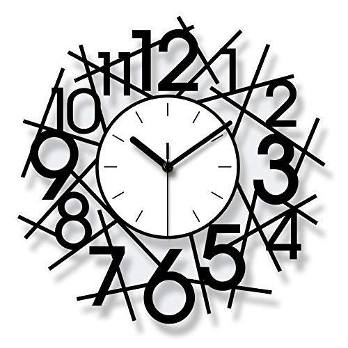 Wanduhr Acryl Batterie Nummer Uhren Nadel Silent Sweep Bell Desk Uhren Wohnzimmer Home Küche Büro Dekoration