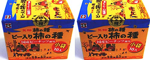 元祖柿の種 ピー入り柿の種 国産ピーナッツ使用 190g(19g×10) ×2箱