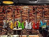 Personnalisé Toute Taille Européen Et Américain Rétro Guitare Électrique Mur De Briques Bar Ktv Mur Fond Mur Autocollant Mural Sticker Home Decor Papier Peint